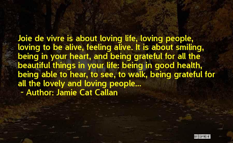 The Beautiful Things In Life Quotes By Jamie Cat Callan