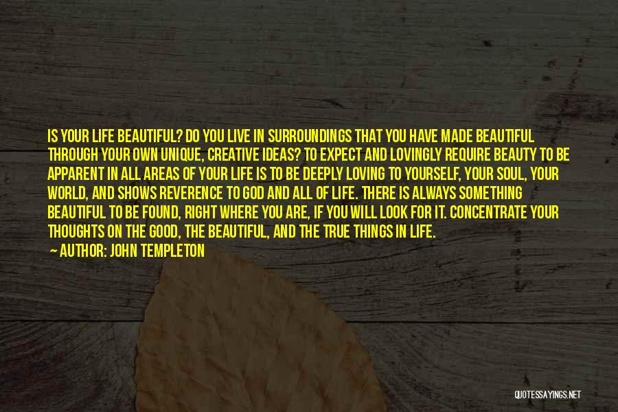 The Beautiful Things In Life Quotes By John Templeton
