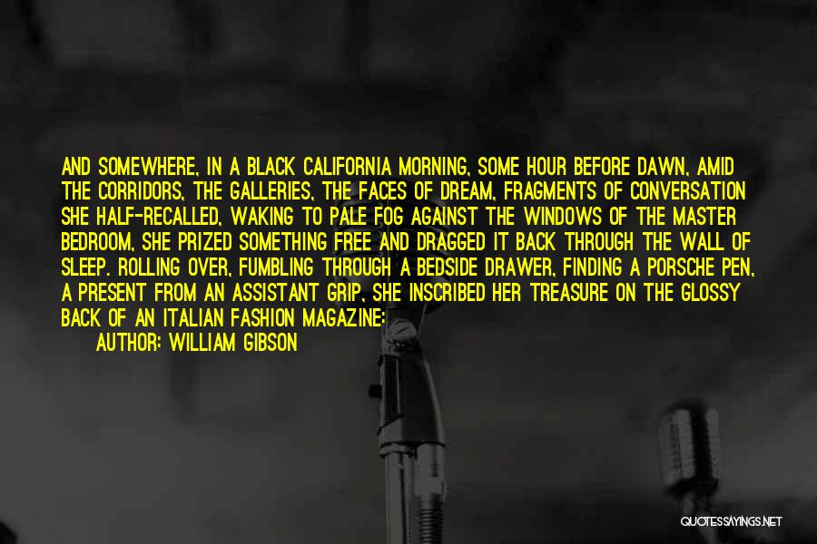 The Bedroom Wall Quotes By William Gibson