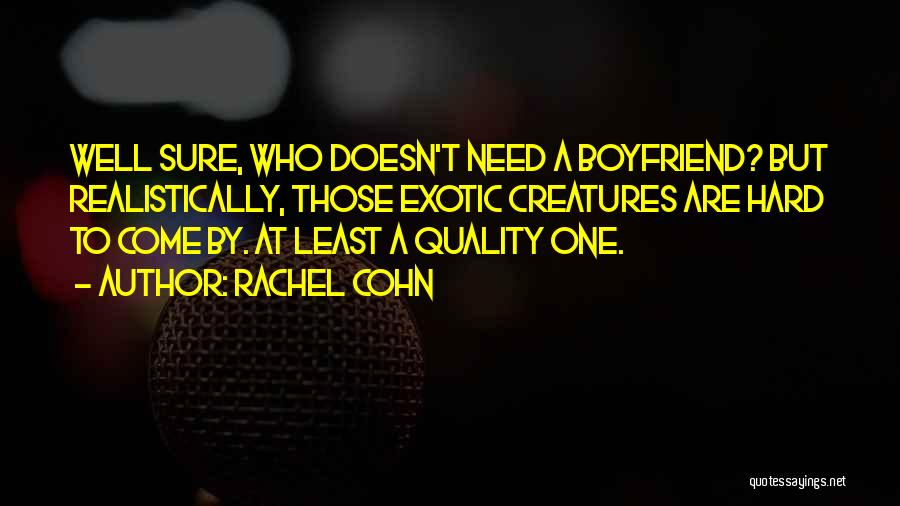 The Best Boyfriend Ever Quotes By Rachel Cohn