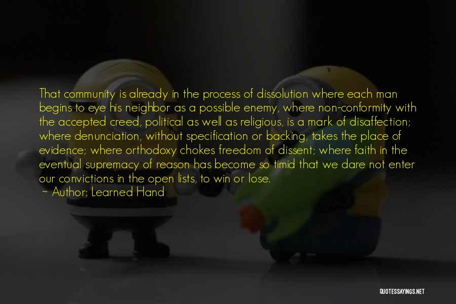The Best Man Win Quotes By Learned Hand