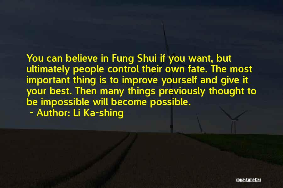 The Best Thing Is You Quotes By Li Ka-shing