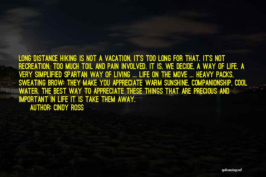 The Best Things Life Quotes By Cindy Ross