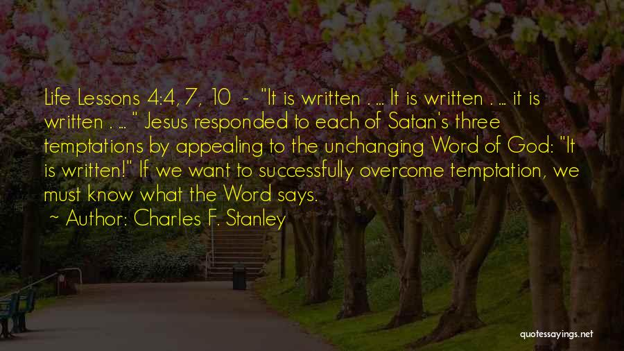The Best Three Word Quotes By Charles F. Stanley