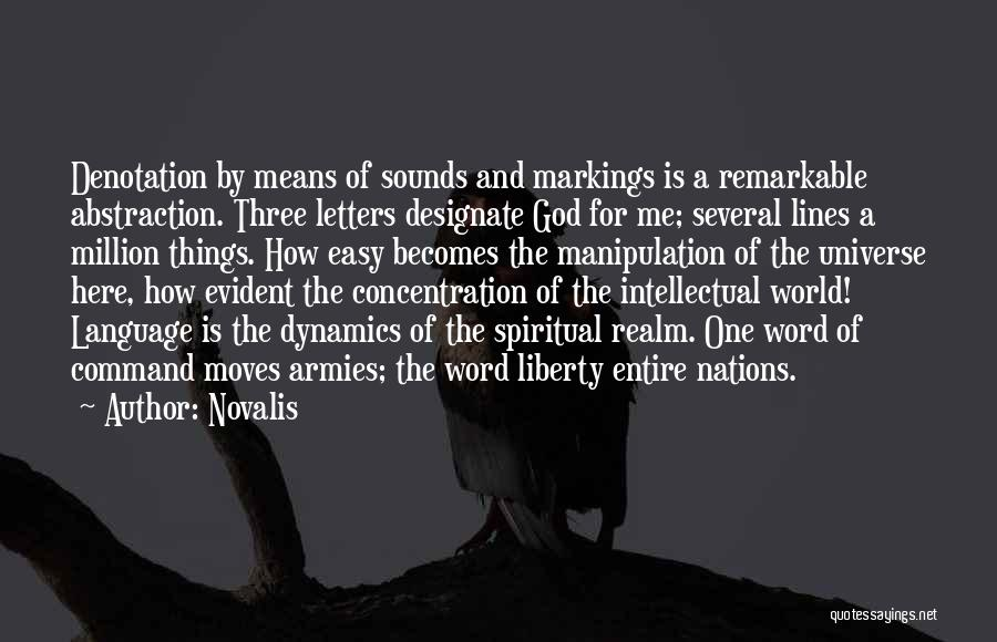 The Best Three Word Quotes By Novalis