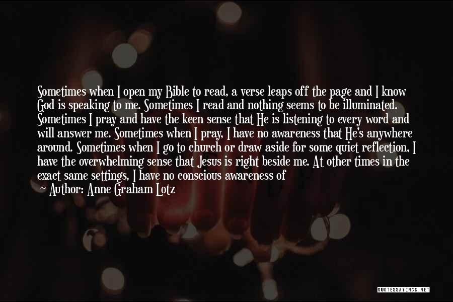 The Bible Jesus Read Quotes By Anne Graham Lotz