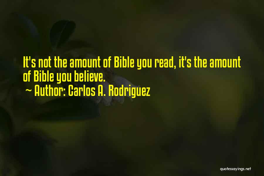 The Bible Jesus Read Quotes By Carlos A. Rodriguez