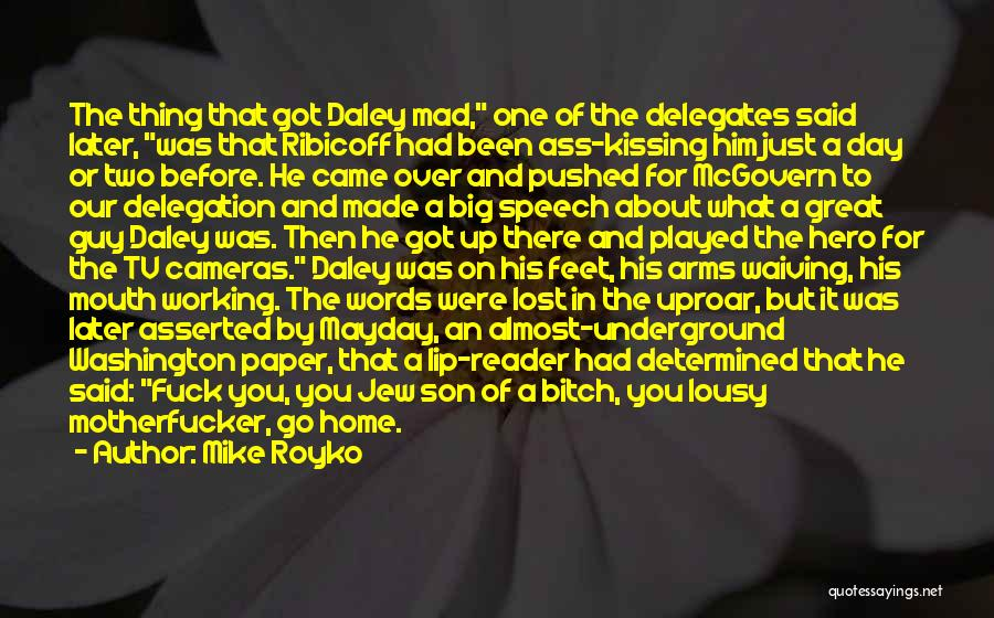 The Big Day Quotes By Mike Royko