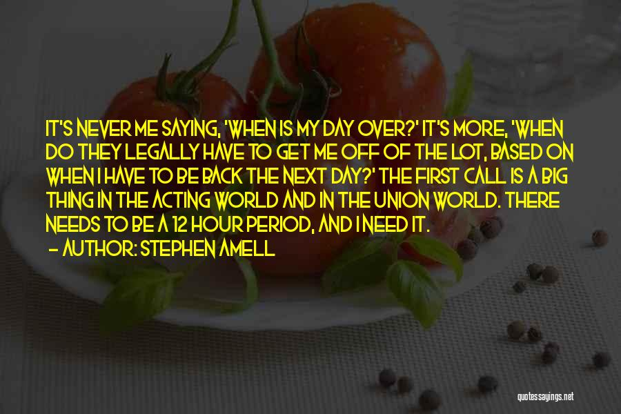 The Big Day Quotes By Stephen Amell