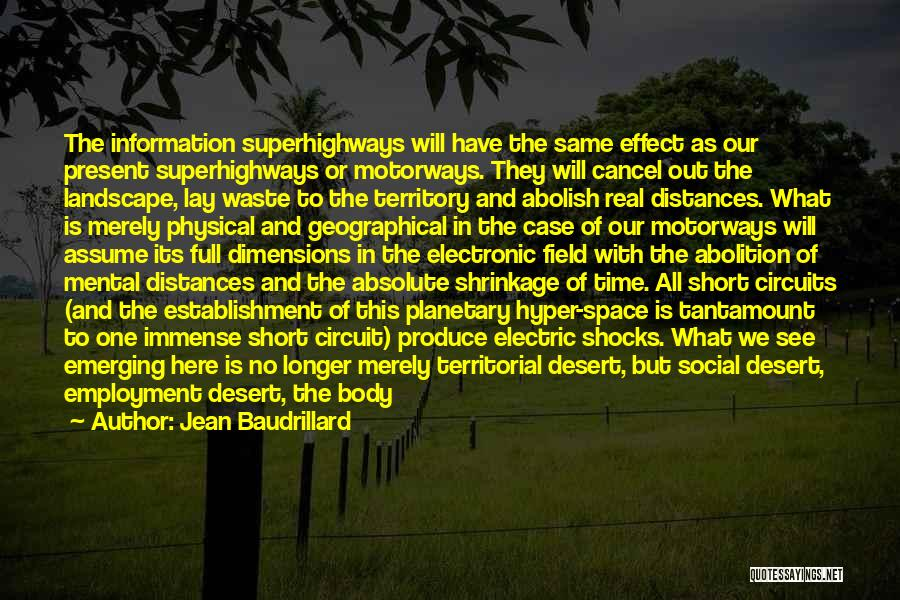 The Big Field Quotes By Jean Baudrillard