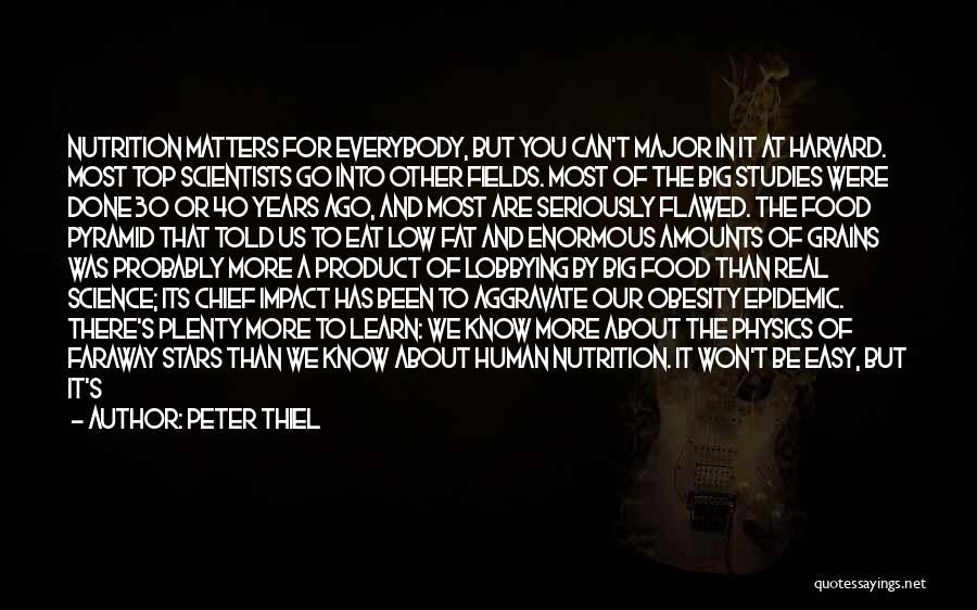 The Big Field Quotes By Peter Thiel