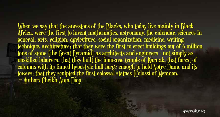 The Black Forest Quotes By Cheikh Anta Diop
