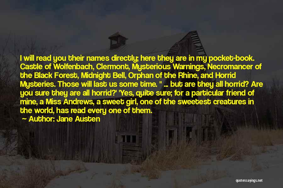 The Black Forest Quotes By Jane Austen