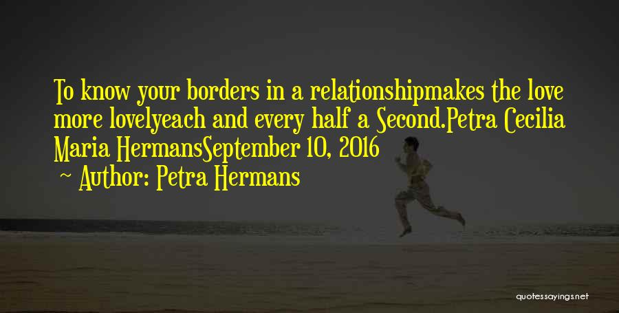 The Border Quotes By Petra Hermans