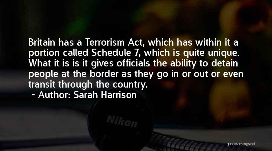 The Border Quotes By Sarah Harrison