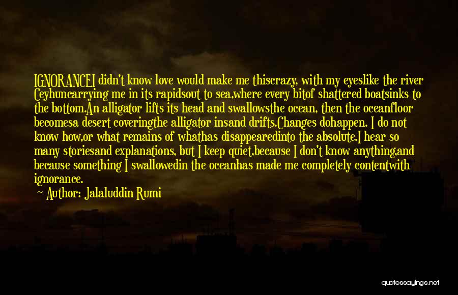 The Bottom Of The Sea Quotes By Jalaluddin Rumi