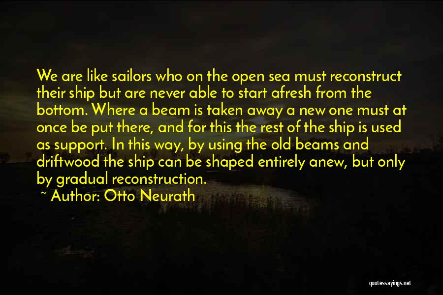The Bottom Of The Sea Quotes By Otto Neurath