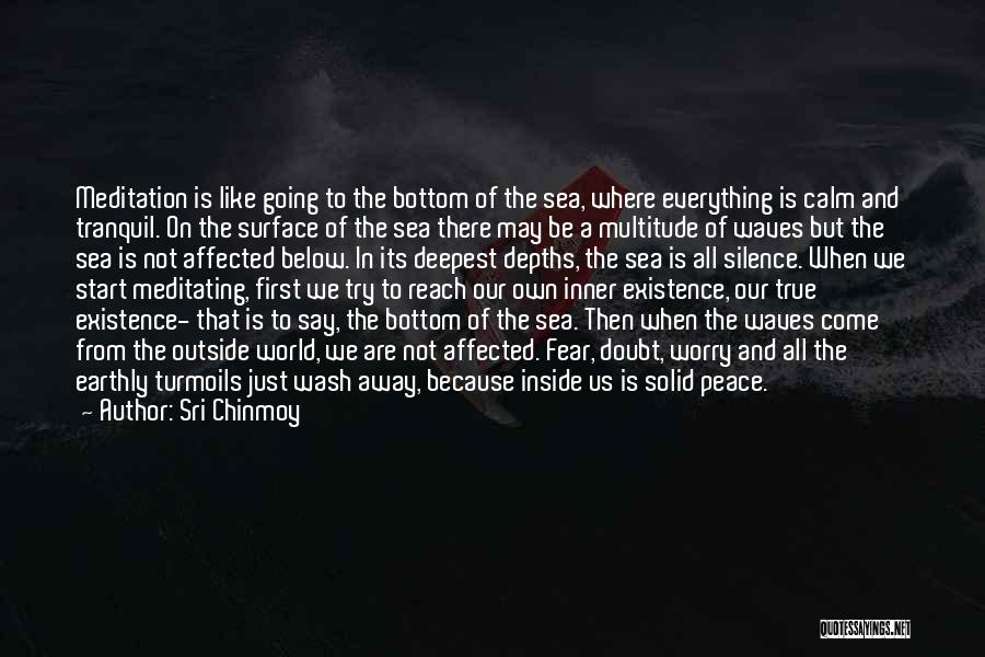 The Bottom Of The Sea Quotes By Sri Chinmoy