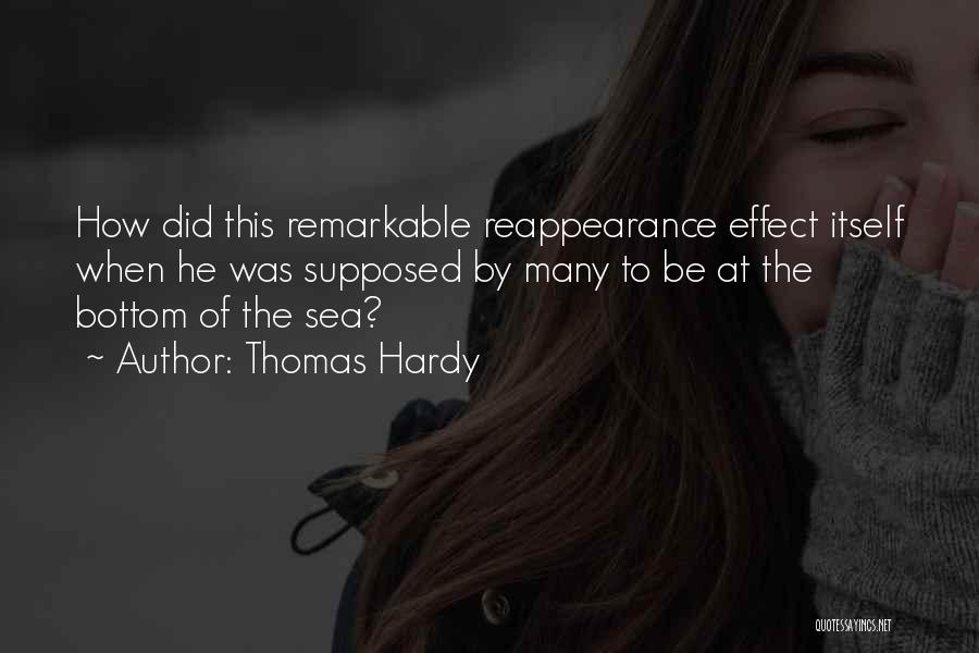 The Bottom Of The Sea Quotes By Thomas Hardy