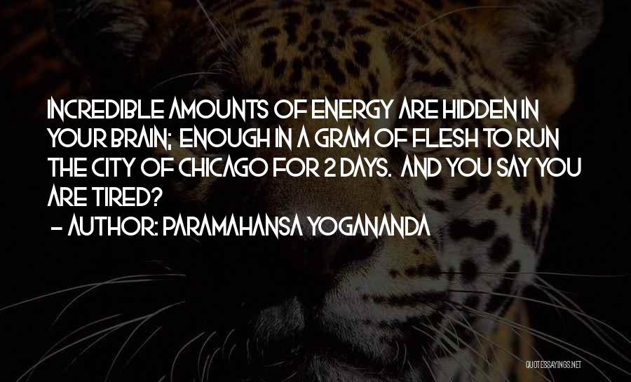 The City Chicago Quotes By Paramahansa Yogananda
