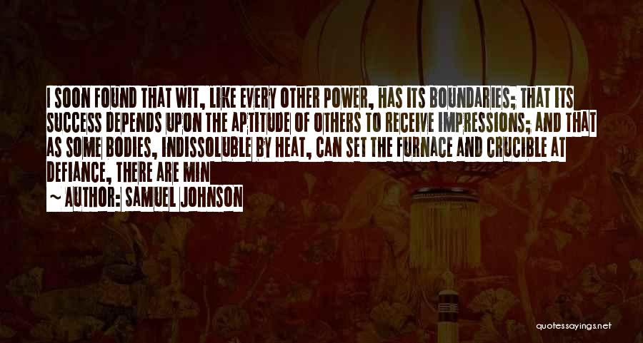 The Crucible Power Quotes By Samuel Johnson