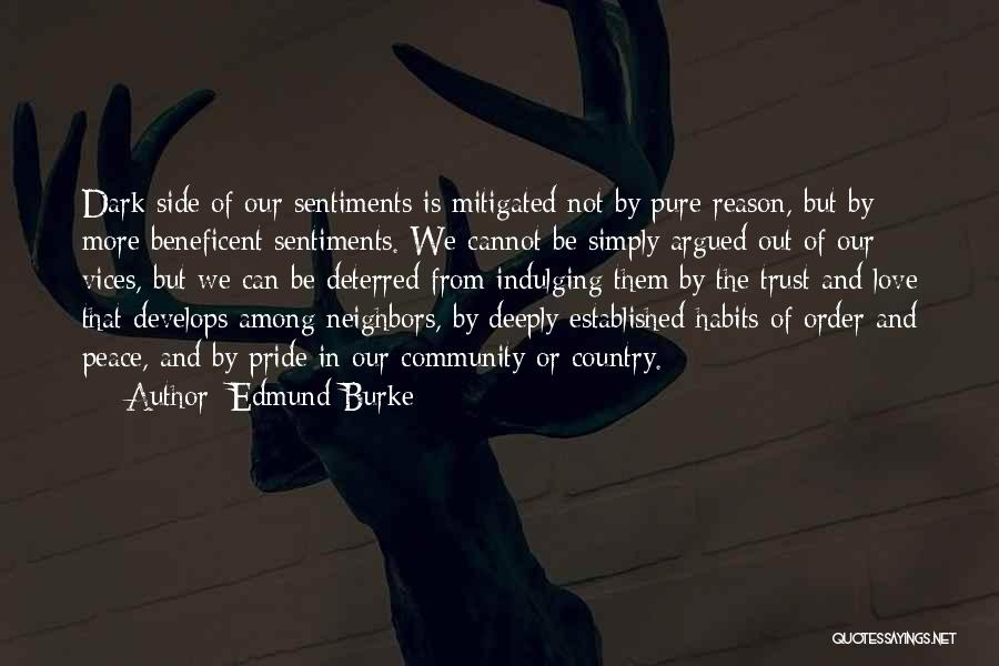 The Dark Side Of Love Quotes By Edmund Burke