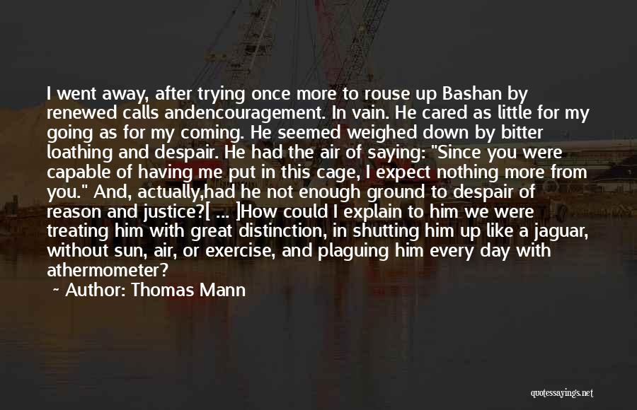 The Day You Went Away Quotes By Thomas Mann
