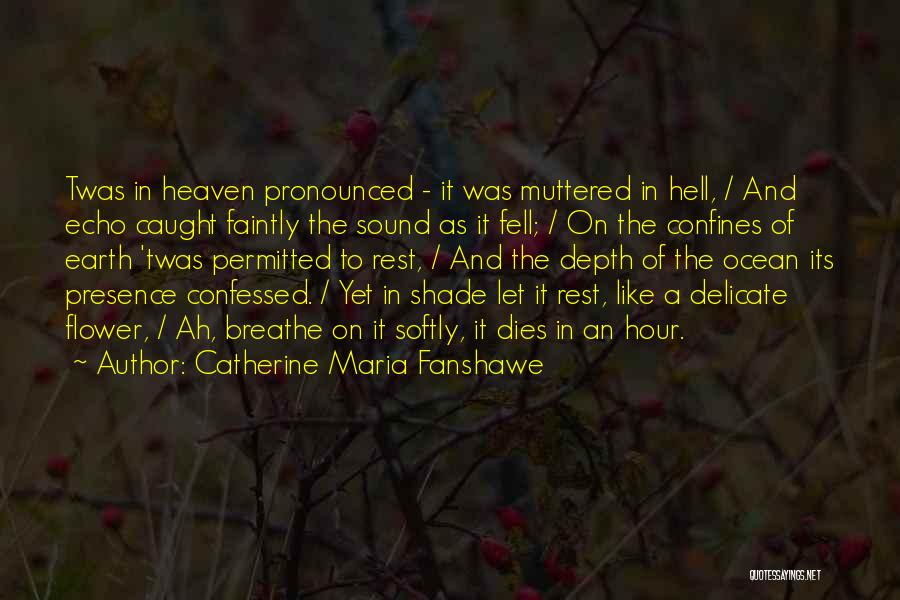 The Depth Of The Ocean Quotes By Catherine Maria Fanshawe