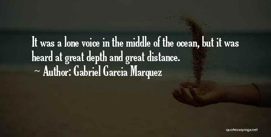 The Depth Of The Ocean Quotes By Gabriel Garcia Marquez
