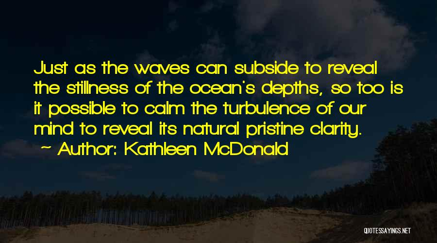 The Depth Of The Ocean Quotes By Kathleen McDonald