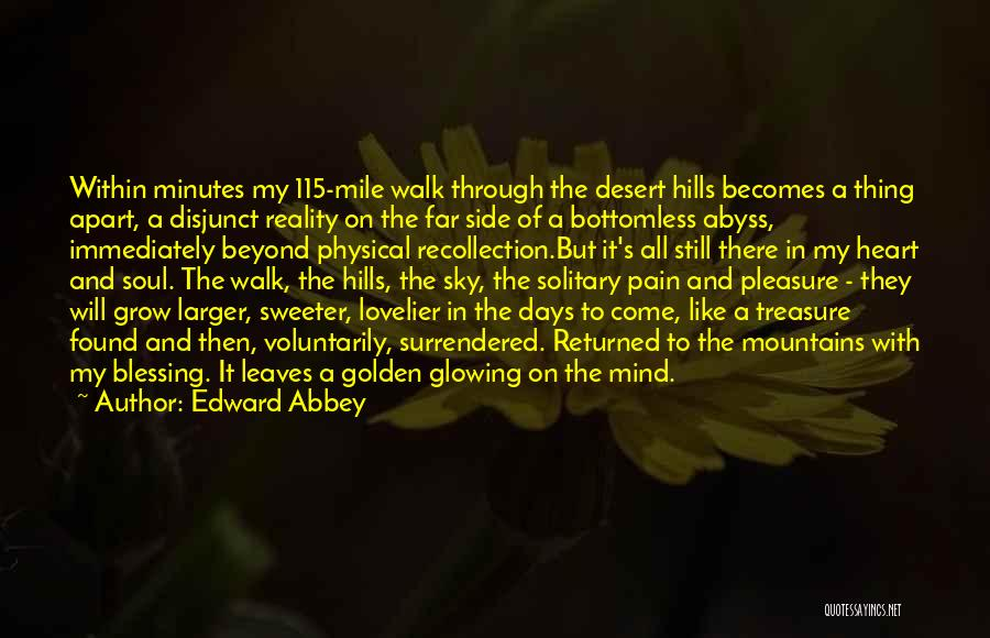 The Desert Sky Quotes By Edward Abbey