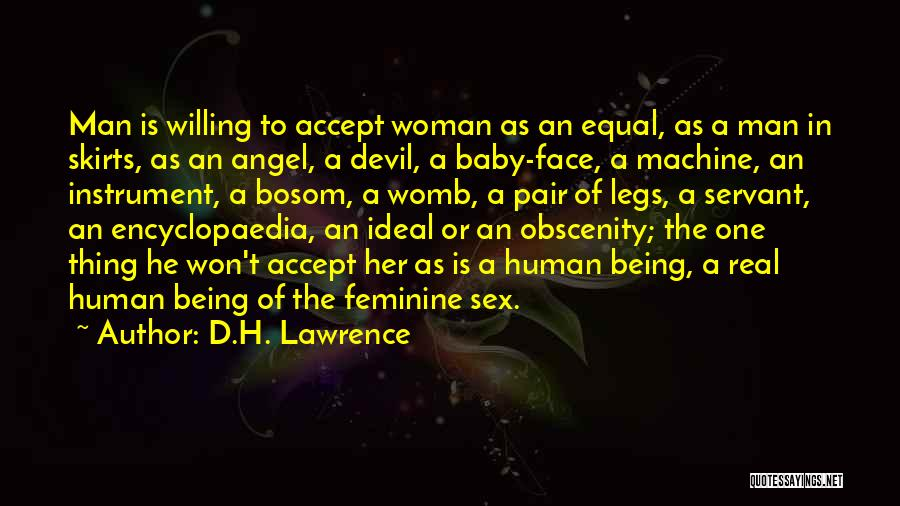 The Devil Being An Angel Quotes By D.H. Lawrence