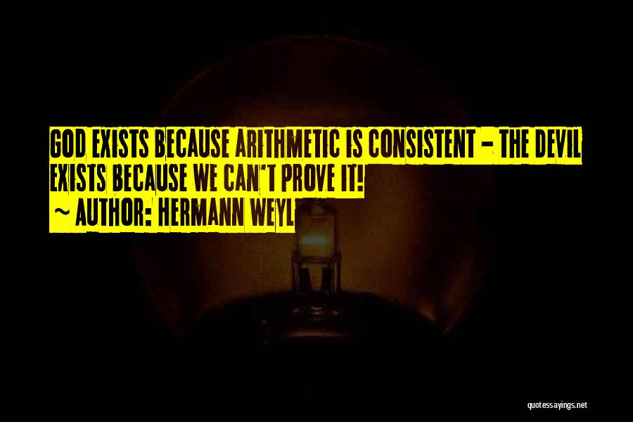 The Devil's Arithmetic Quotes By Hermann Weyl