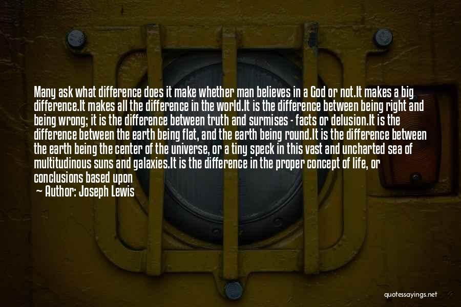 The Earth Being Flat Quotes By Joseph Lewis
