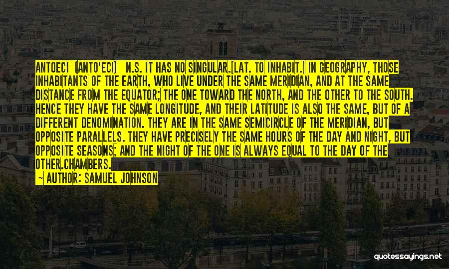 The Earth Day Quotes By Samuel Johnson