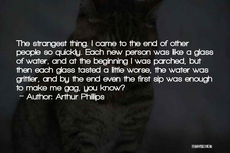 The End And New Beginning Quotes By Arthur Phillips