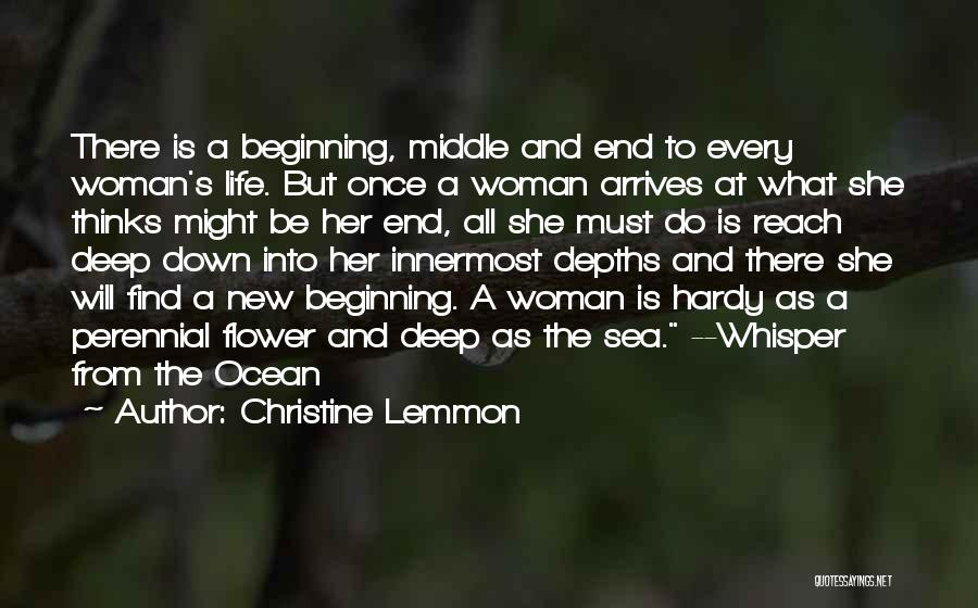 The End And New Beginning Quotes By Christine Lemmon