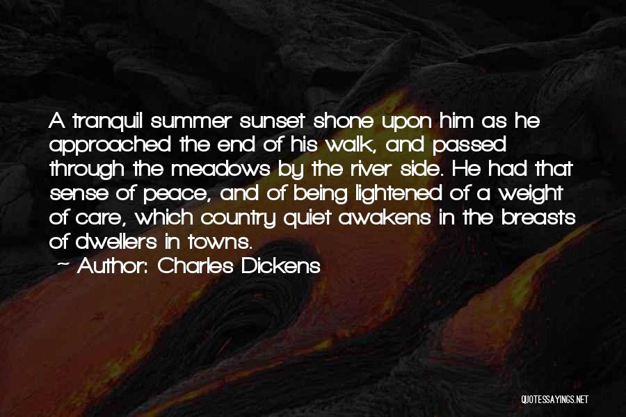 The End Of The Summer Quotes By Charles Dickens