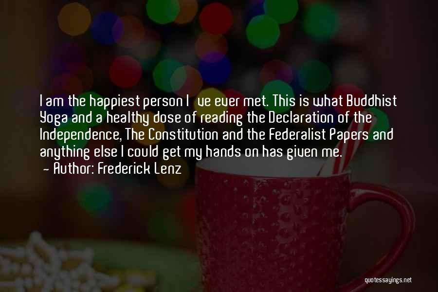 The Federalist Papers Quotes By Frederick Lenz