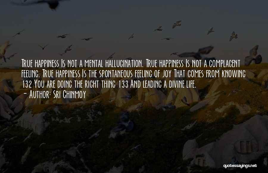 The Feeling Of Happiness Quotes By Sri Chinmoy