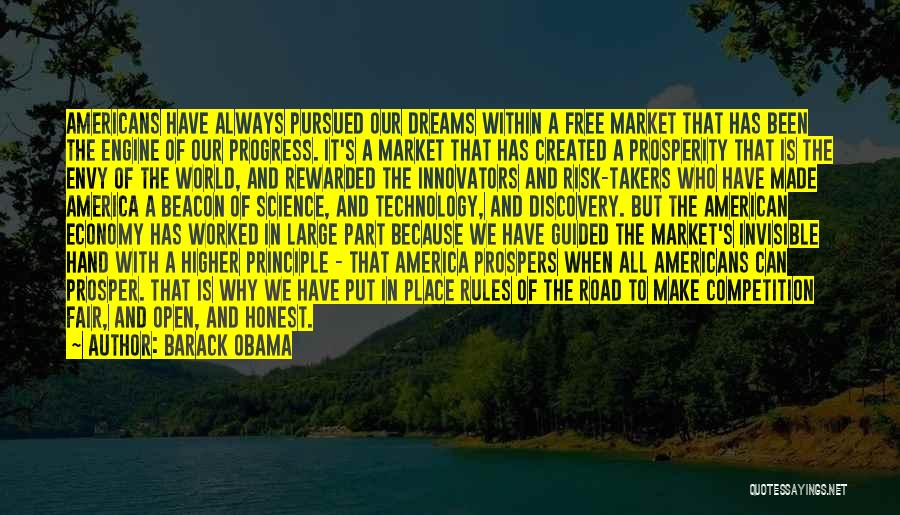 The Free Market Economy Quotes By Barack Obama