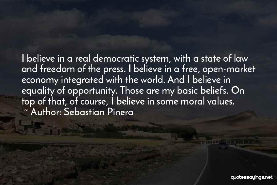 The Free Market Economy Quotes By Sebastian Pinera