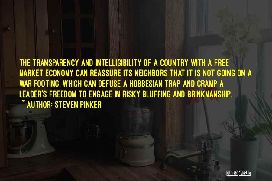 The Free Market Economy Quotes By Steven Pinker