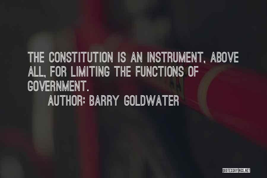 The Function Of Government Quotes By Barry Goldwater
