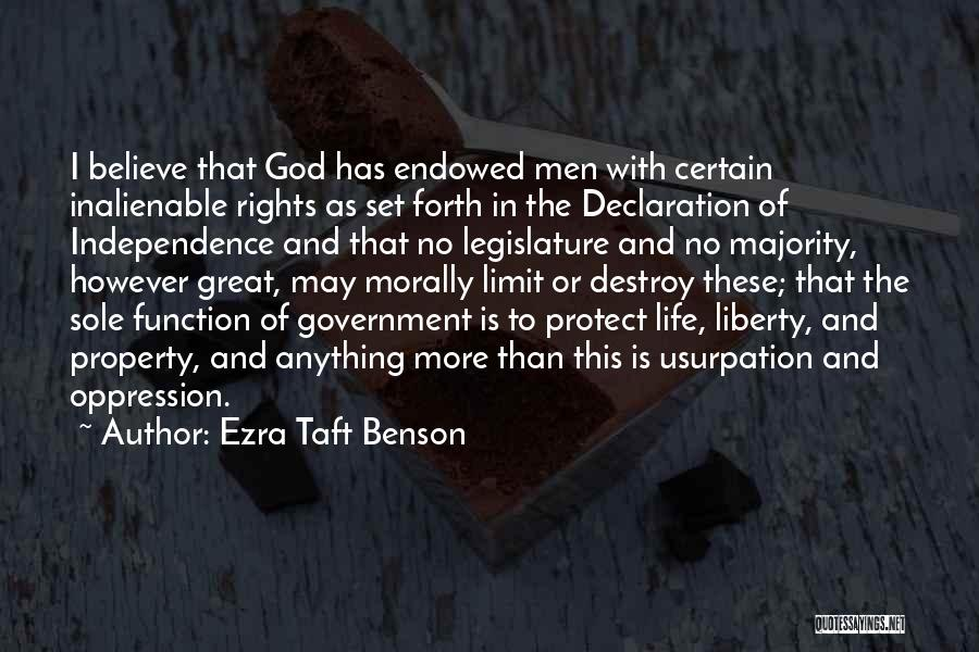 The Function Of Government Quotes By Ezra Taft Benson