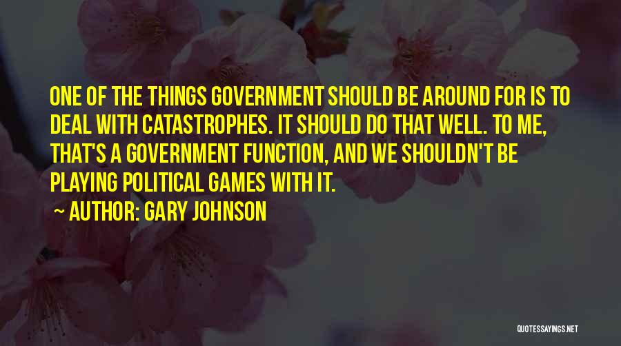 The Function Of Government Quotes By Gary Johnson