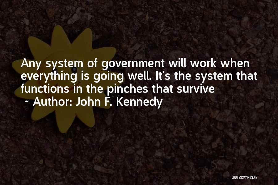 The Function Of Government Quotes By John F. Kennedy
