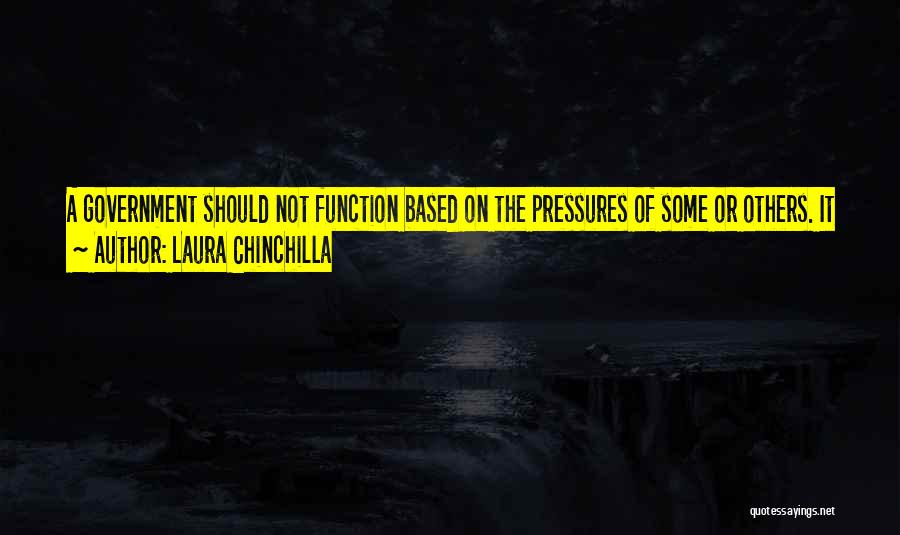 The Function Of Government Quotes By Laura Chinchilla