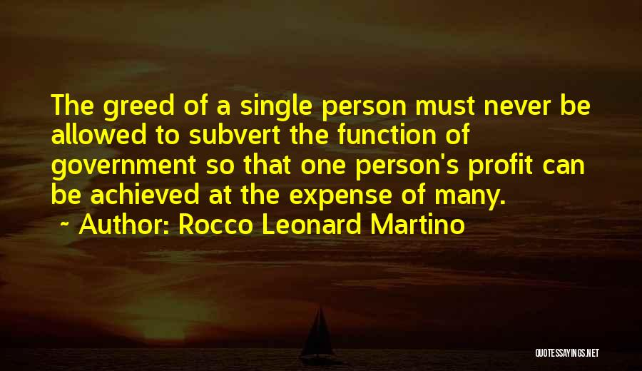 The Function Of Government Quotes By Rocco Leonard Martino