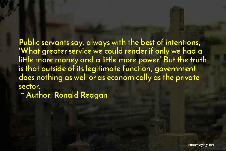 The Function Of Government Quotes By Ronald Reagan